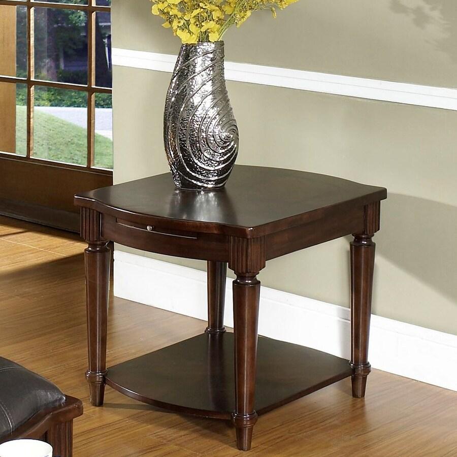 Somerton Home Furnishings Morgan Deep Brown Primavera Mahogany Rectangular End Table