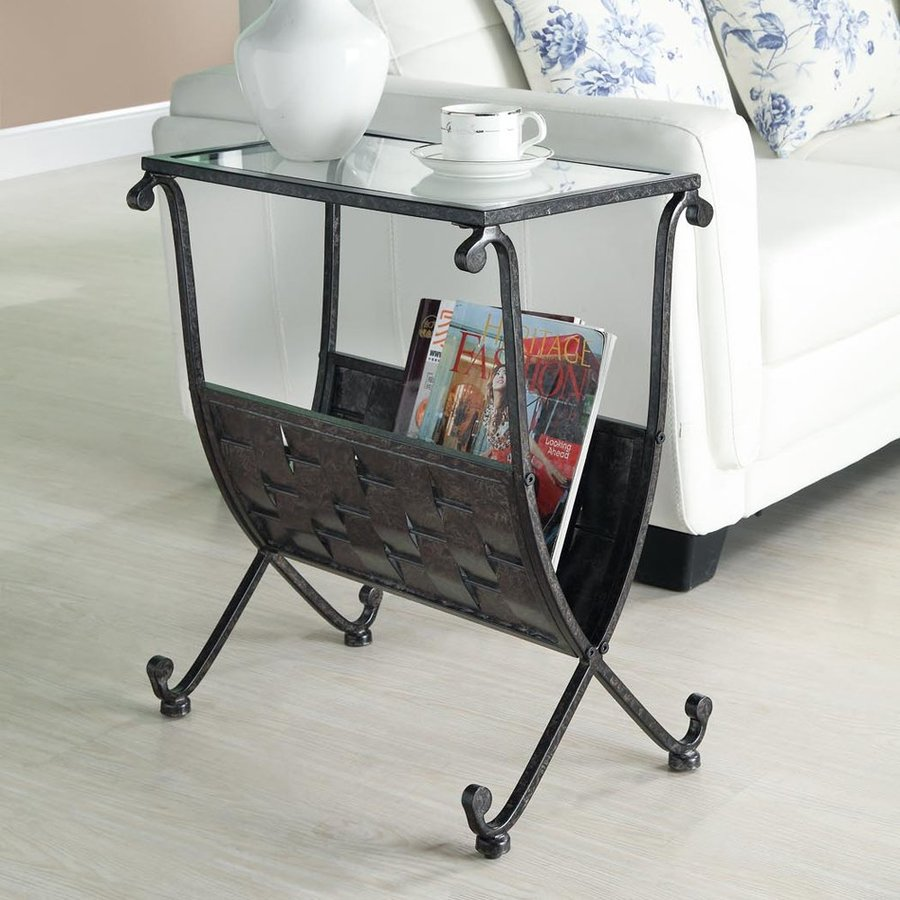 Monarch Specialties Black/Taupe Rectangular End Table