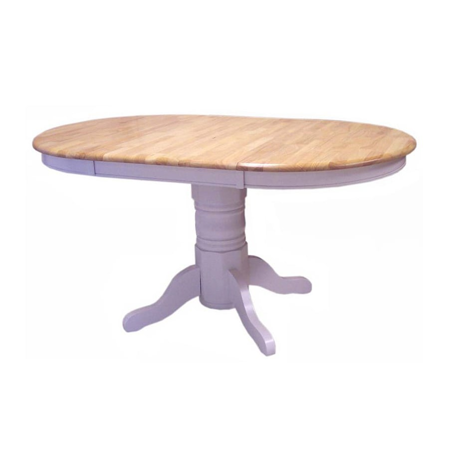 Shop Tms Furniture Farmhouse White Oval Dining Table At