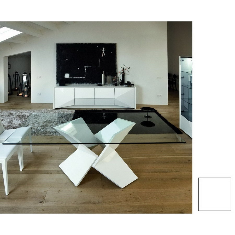 Rossetto USA Sapphire White Rectangular Dining Table