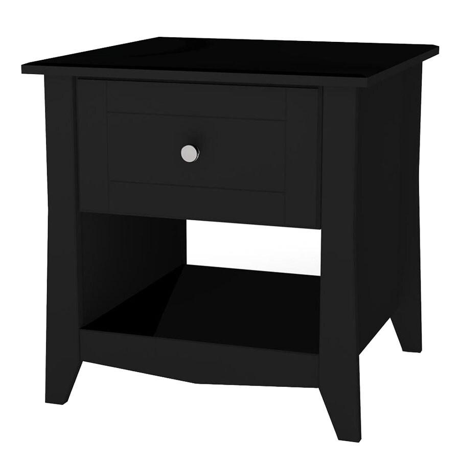 Nexera Tuxedo Black Lacquer Square End Table