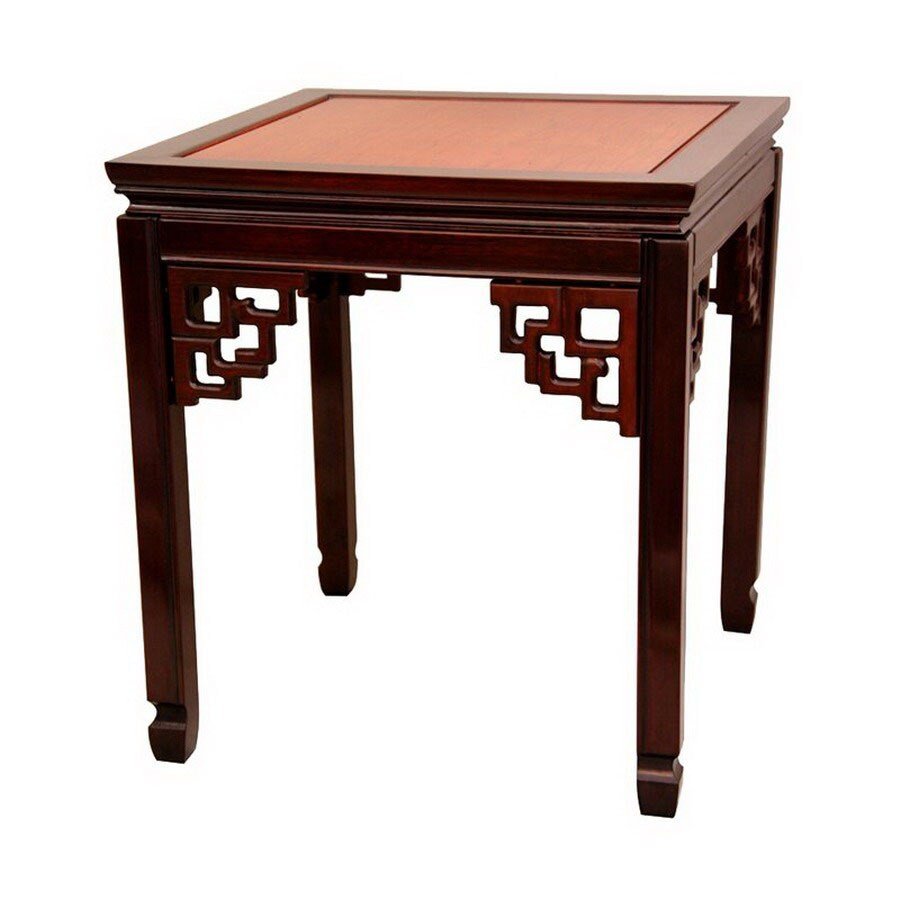 Oriental Furniture Rosewood Furniture Two-Tone Square End Table