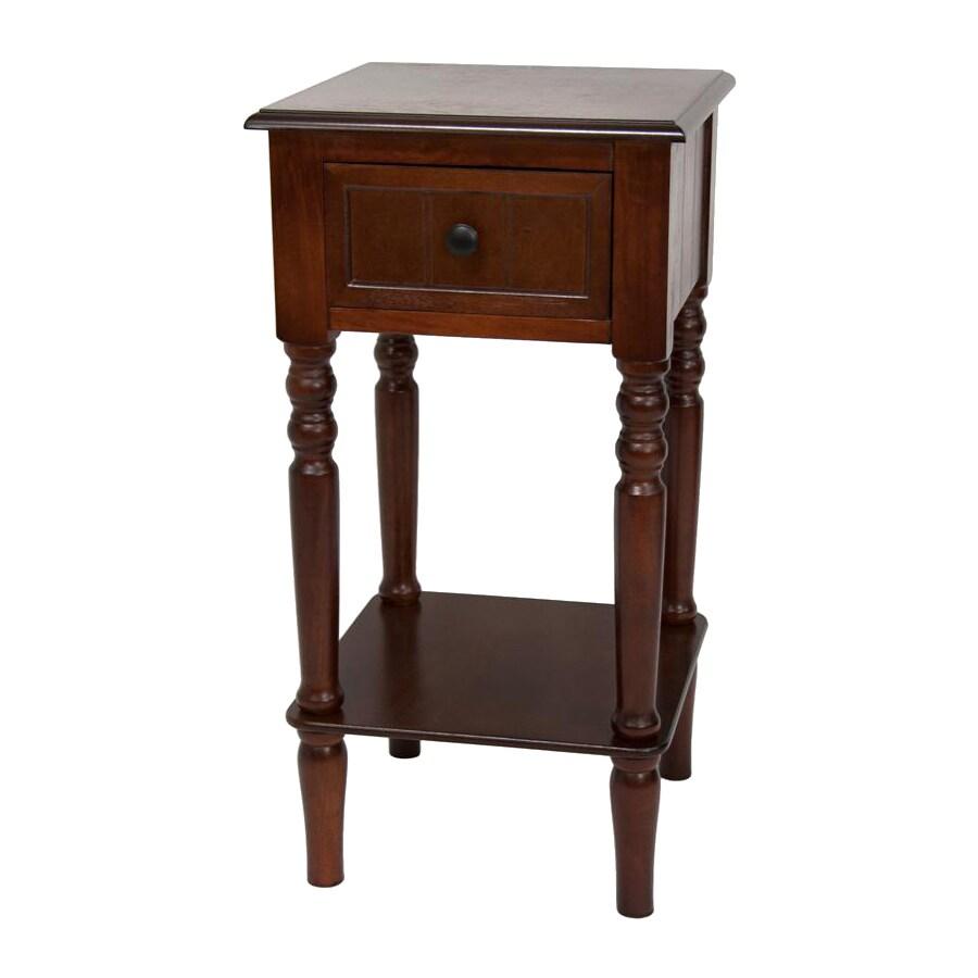 Oriental Furniture Classic Design Cherry Square End Table
