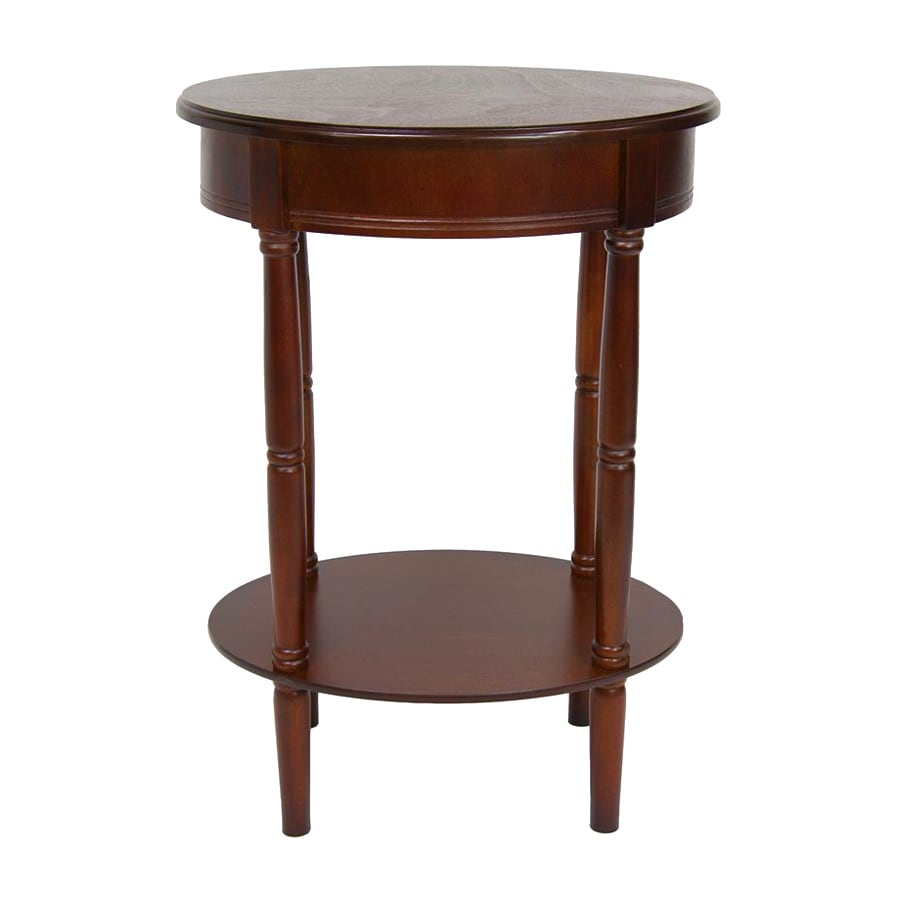 Oriental Furniture Classic Design Cherry Oval End Table