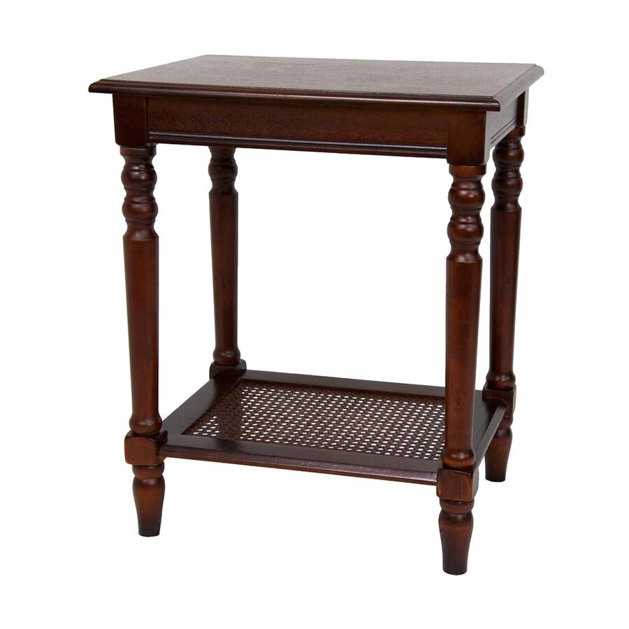 Oriental Furniture Classic Design Cherry Rectangular End Table