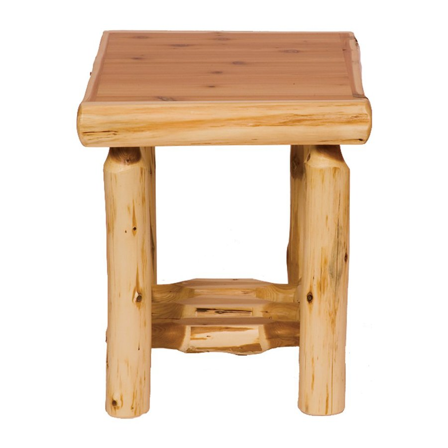 ... Lodge Furniture Traditional Cedar Rectangular End Table at Lowes.com