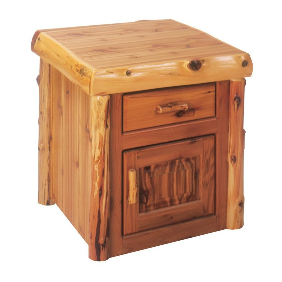 Fireside Lodge Furniture Traditional Cedar Square End Table