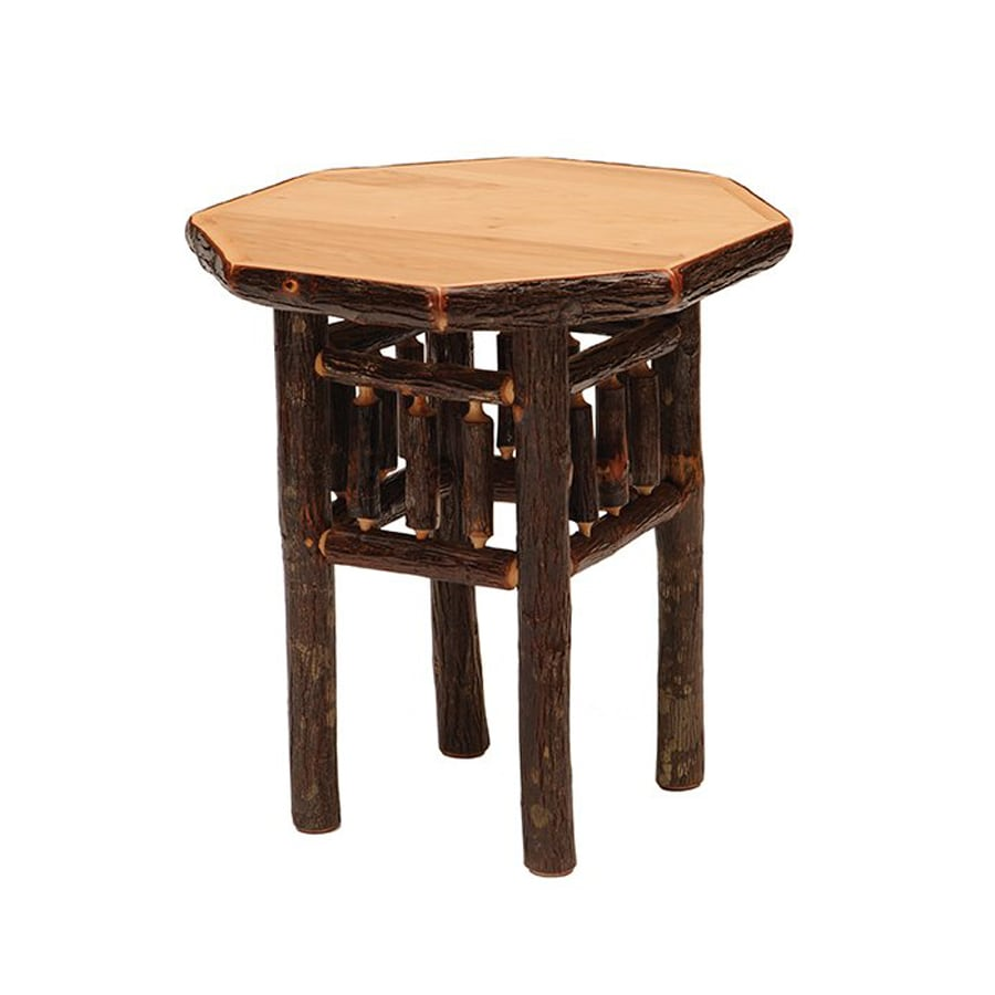 Fireside Lodge Furniture Traditional Hickory Octagon End Table
