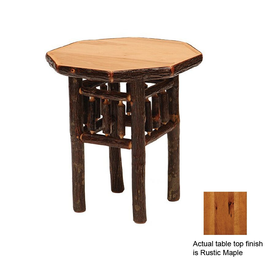 Fireside Lodge Furniture Rustic Maple Hickory Octagon End Table