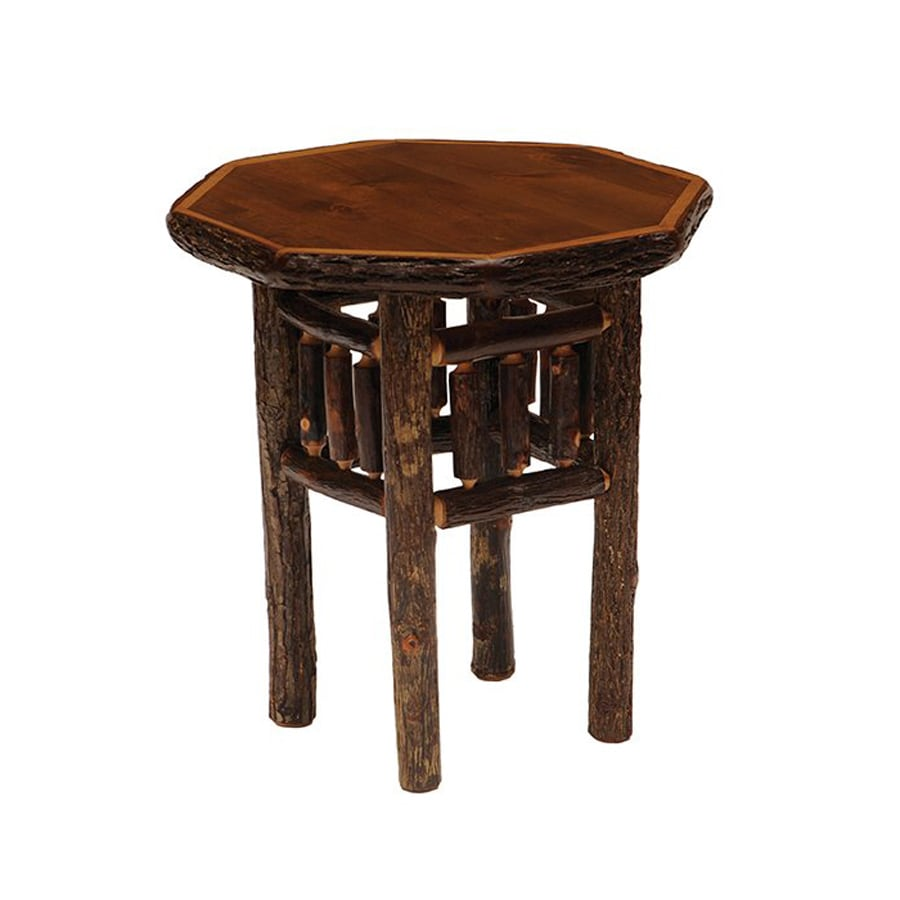 Fireside Lodge Furniture Espresso Hickory Octagon End Table