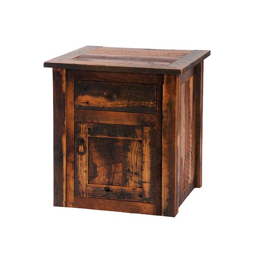 Fireside Lodge Furniture Barnwood Oak Square End Table