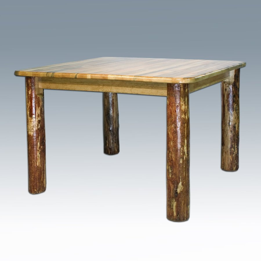 Shop montana woodworks glacier country stained and for Dining room tables lowes