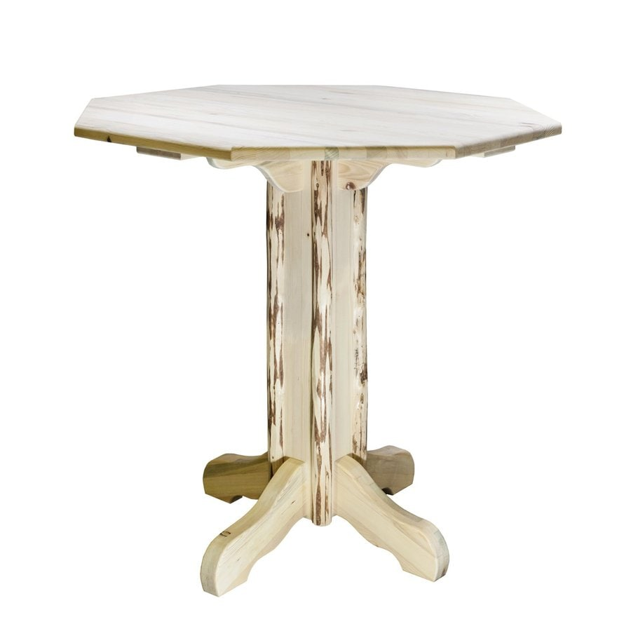Montana Woodworks Montana Clear Lacquer Octagonal Bistro Table
