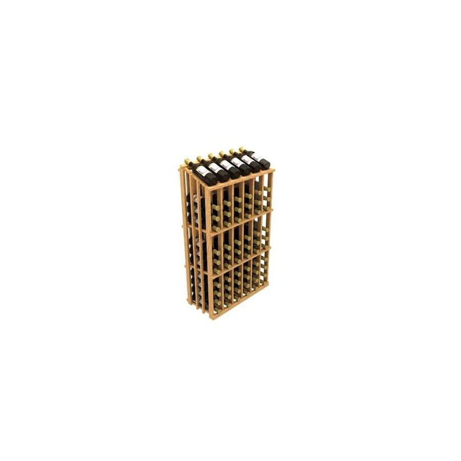 Ironwine Cellars Commercial 78-Bottle Pine Freestanding Floor Wine Rack
