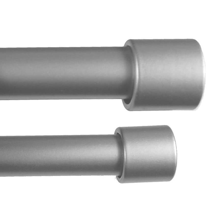 BCL Drapery Classic Verona 86-in to 120-in Pewter Steel Curtain Rod Set