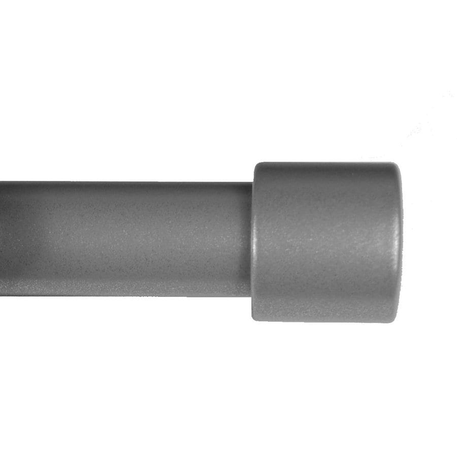 BCL Drapery Classic Verona 28-in to 48-in Pewter Steel Curtain Rod Set