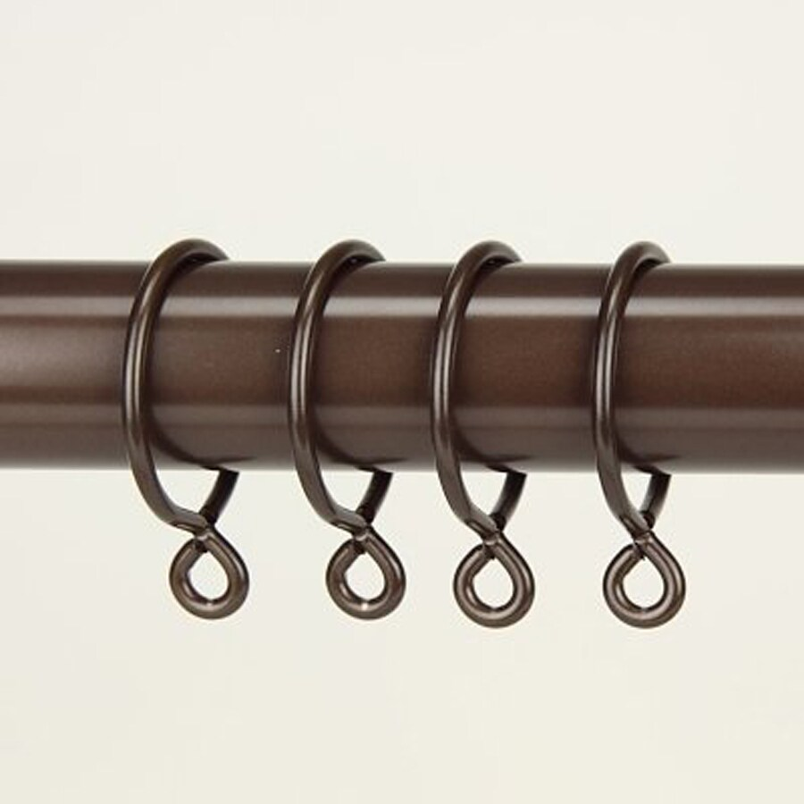 Rod Desyne 10-Pack 1.75-in Cocoa Steel Curtain Rings