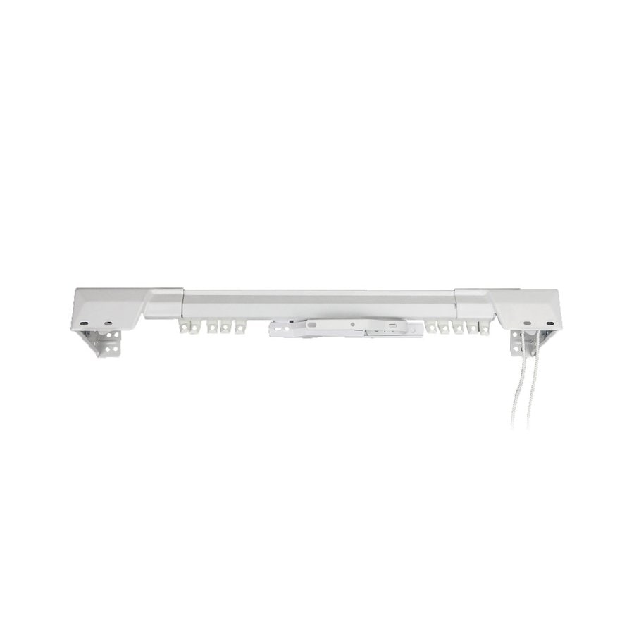 Shop Rod Desyne 84-in to 156-in White Steel Traverse Curtain Rod at ...
