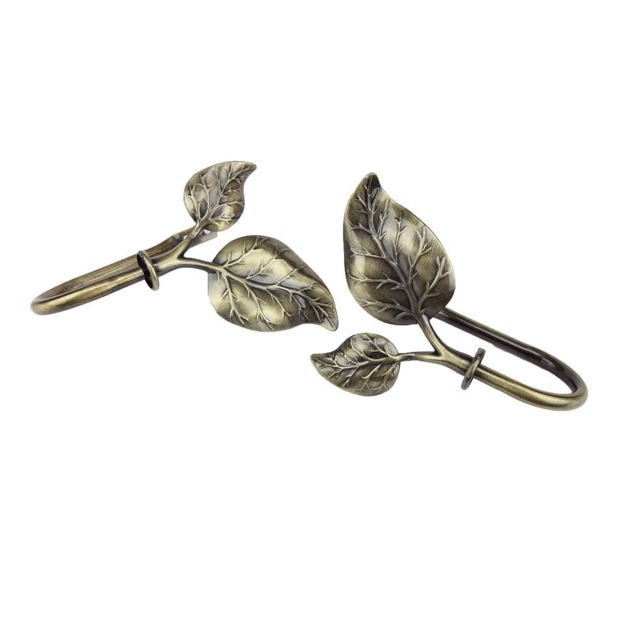 Shop Rod Desyne Ivy 2 Pack Antique Brass Steel Curtain