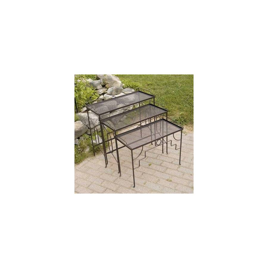 ACHLA Designs Rectangle Wrought Iron End Table