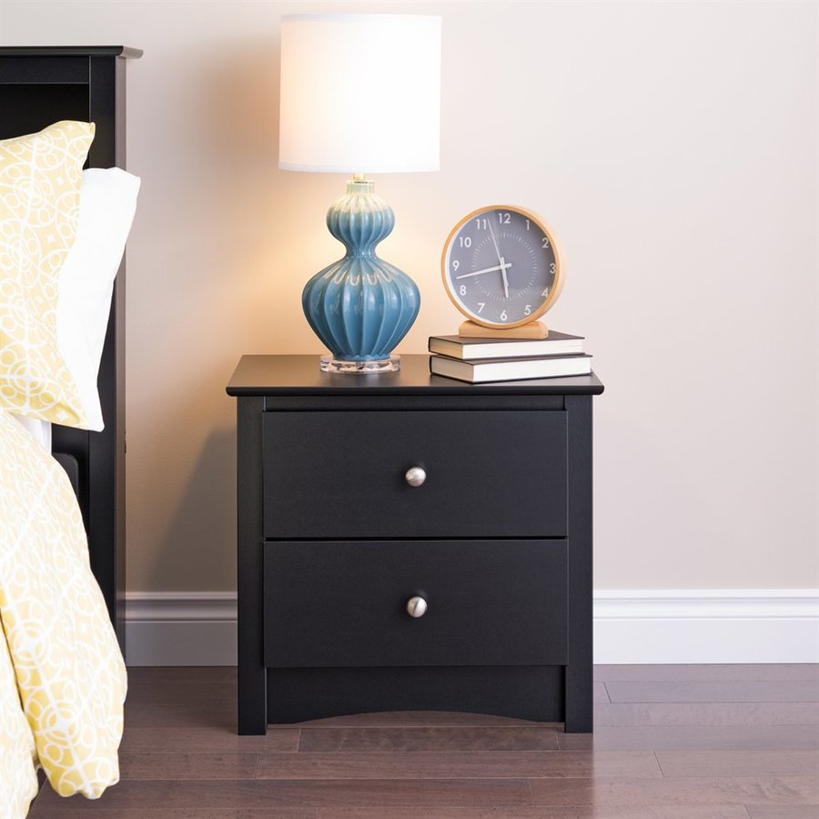 Prepac Furniture Sonoma Black Nightstand