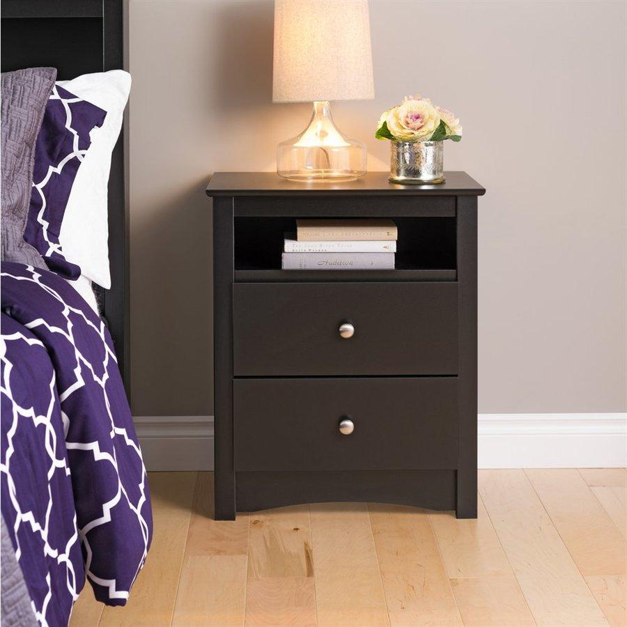 Prepac Furniture Sonoma Black Composite Nightstand