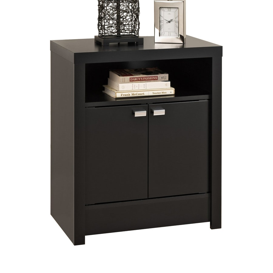 Prepac Furniture Series 9 Black Composite Nightstand