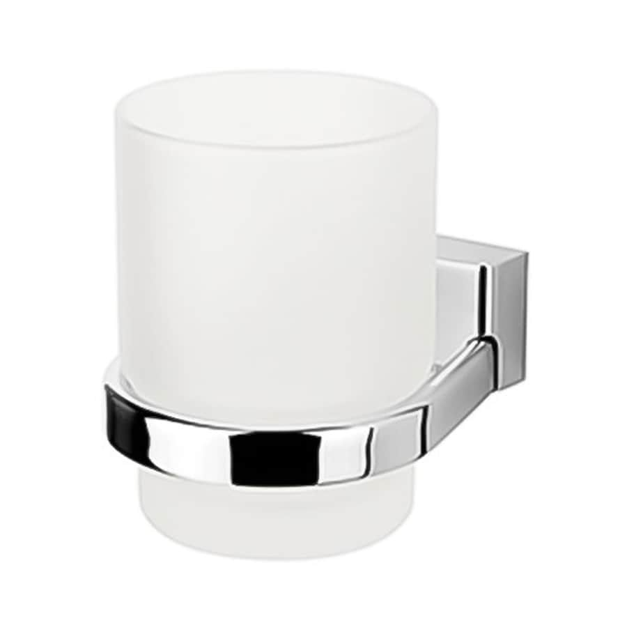 Nameeks Bloq Chrome Brass Toothbrush Holder