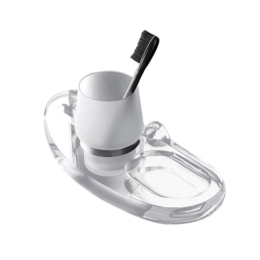 Nameeks Orchidea Chrome Brass Toothbrush Holder and Soap Dish