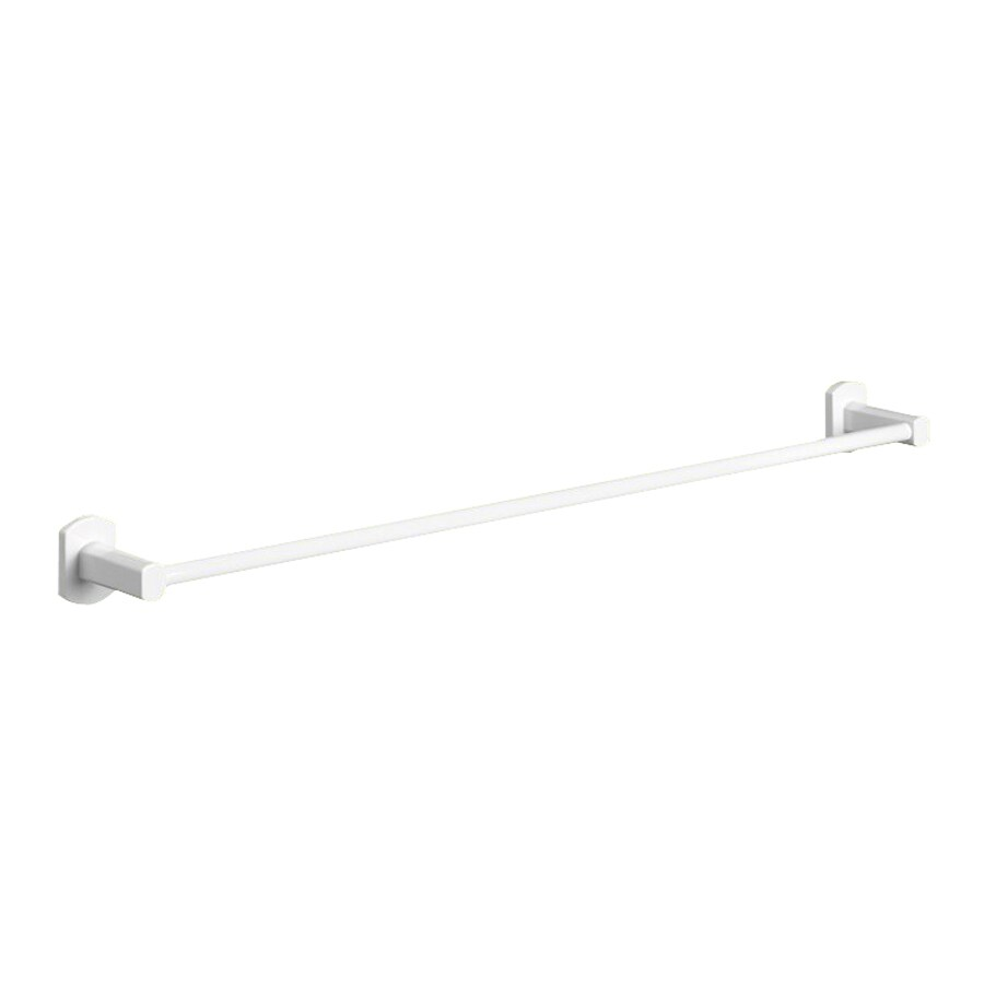 Nameeks Edera White Single Towel Bar (Common: 23-in; Actual: 23-in)
