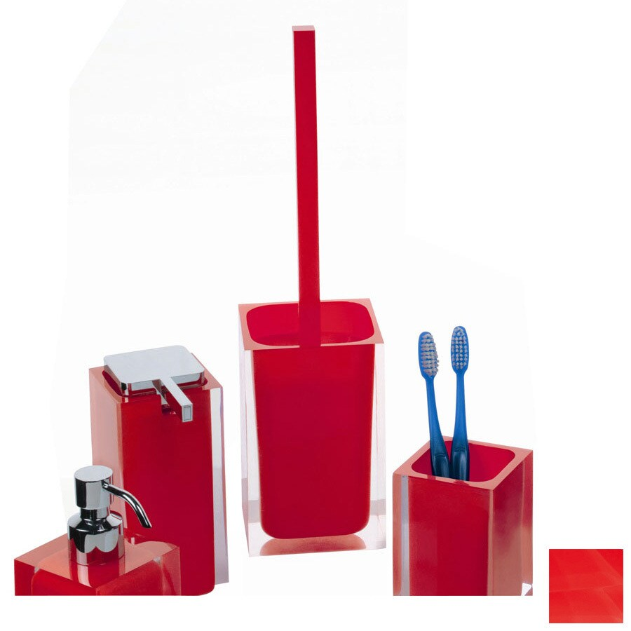 Nameeks Gedy Rainbow Red Plastic Toilet Brush Holder