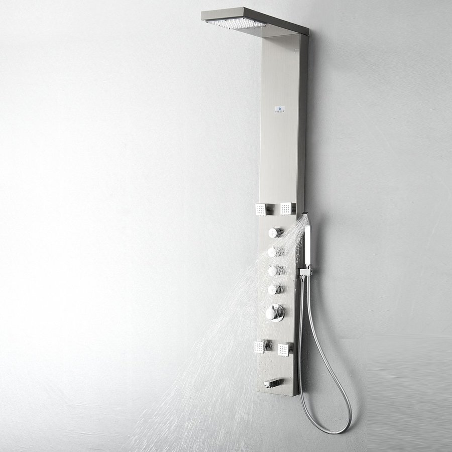 Fresca Verona Brushed Silver Shower Panel System