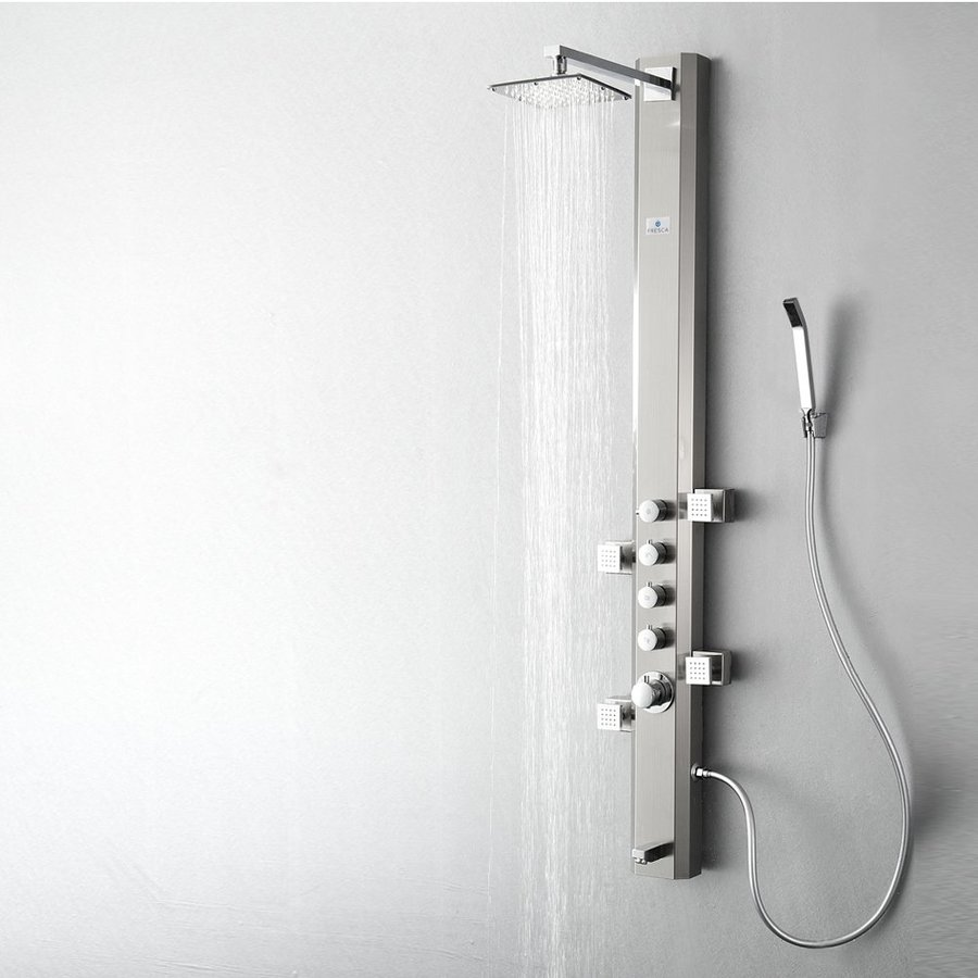 Fresca Prato Brushed Silver Shower Panel System