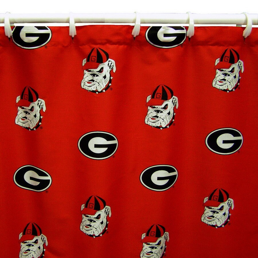 College Covers Georgia Cotton Georgia Bulldogs Patterned Shower Curtain