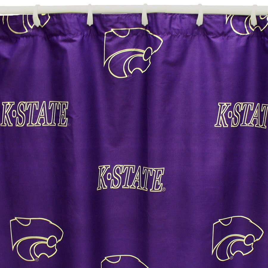 College Covers Kansas State Cotton Kansas State Wildcats Patterned Shower Curtain