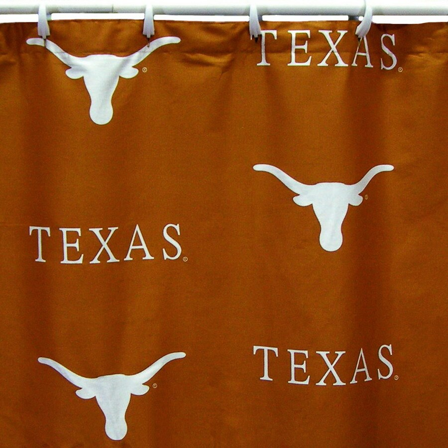College Covers Texas Cotton Texas Longhorns Patterned Shower Curtain