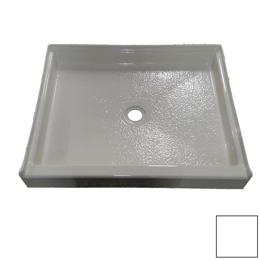 American Acrylic and Injection White Acrylic Shower Base (Common: 60-in W x 32-in L; Actual: 60-in W x 32-in L)