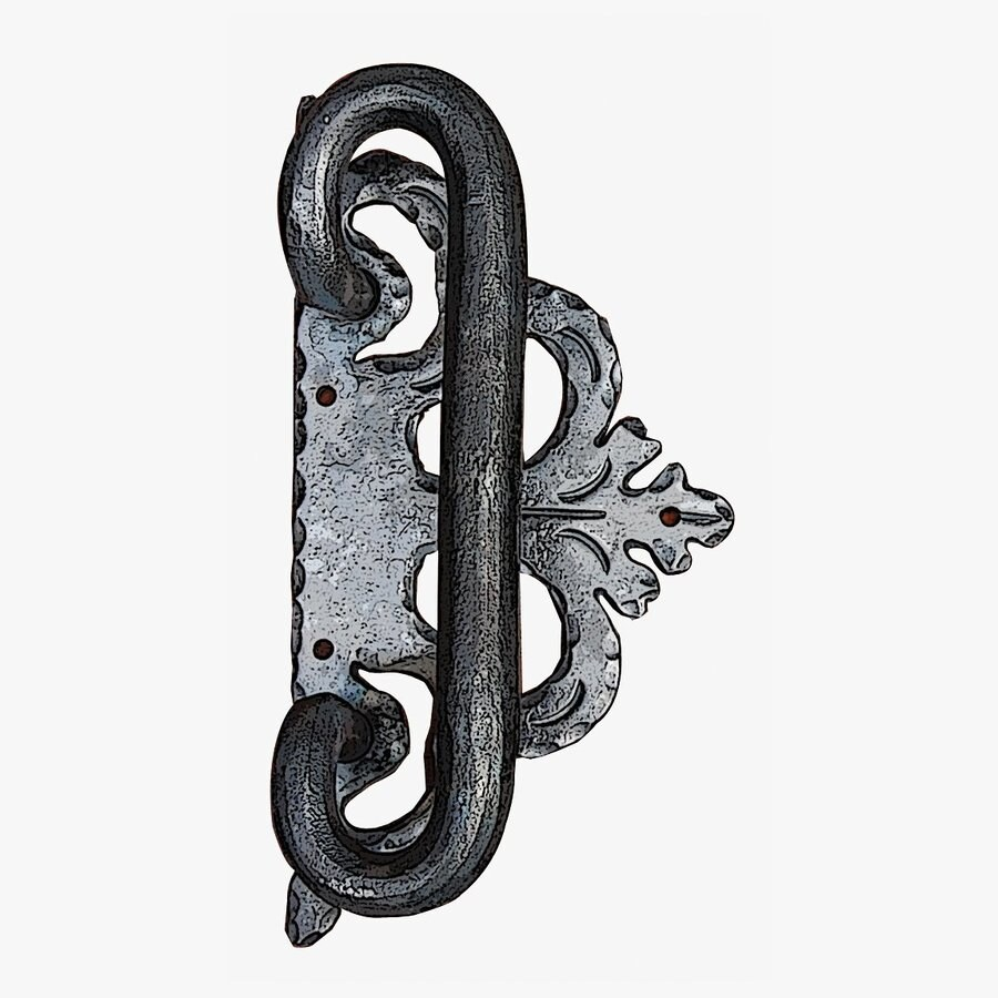 Artesano Iron Works 4-in Sliding Closet Door Pull