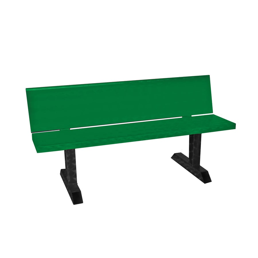 Ofab 14.38-in W x 66-in L Green Solid Aluminum Patio Bench