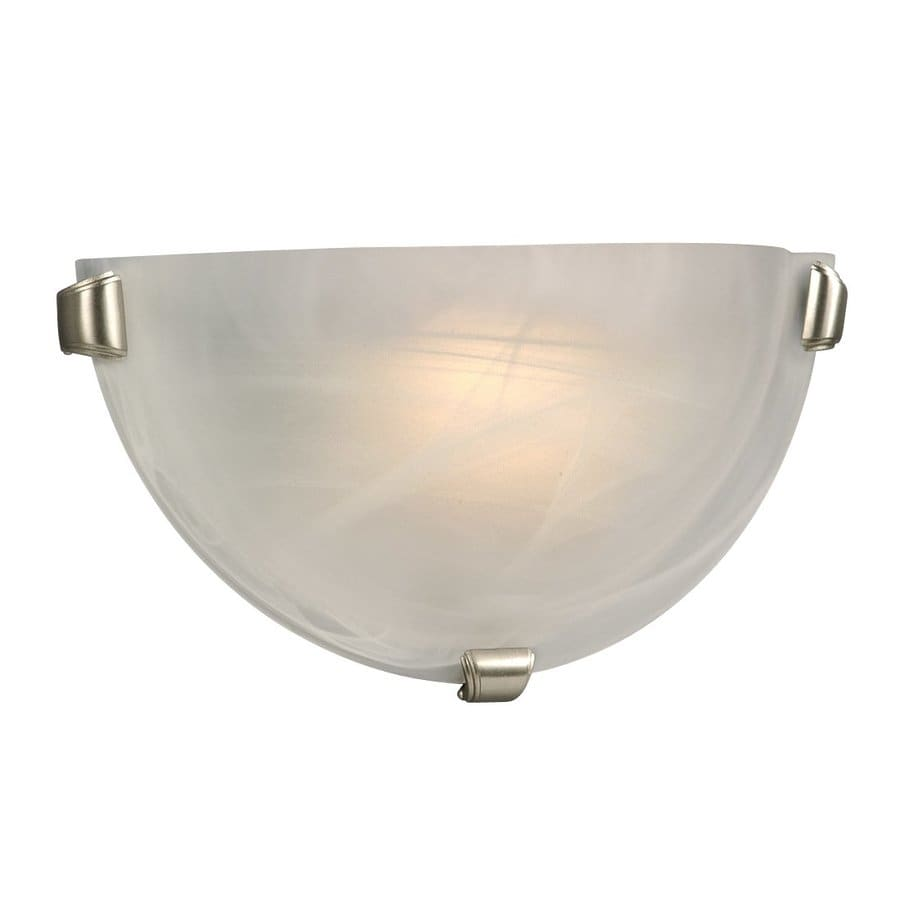 Galaxy 12.125-in W 1-Light Pewter Pocket Hardwired Wall Sconce