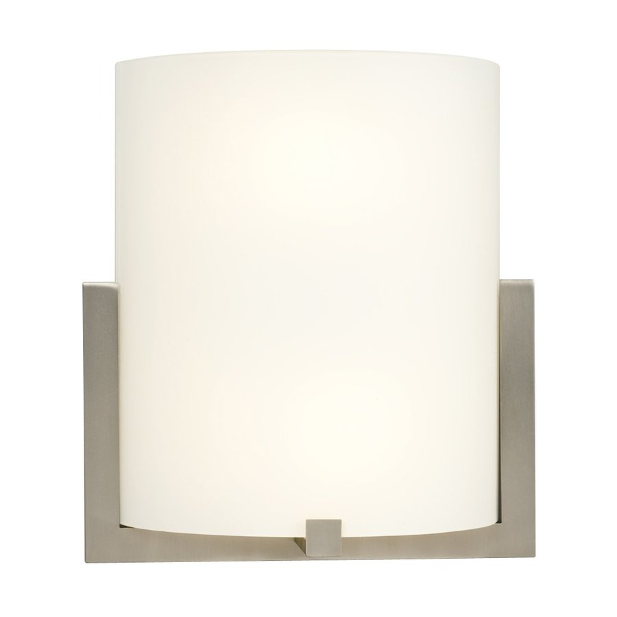 Galaxy 10.25-in W 1-Light Brushed Nickel Pocket Hardwired Wall Sconce