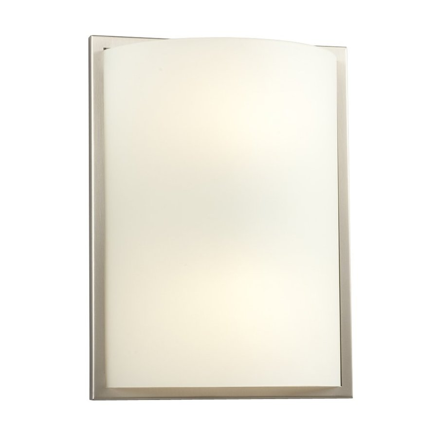 Galaxy 9.5-in W 1-Light Brushed Nickel Pocket Hardwired Wall Sconce