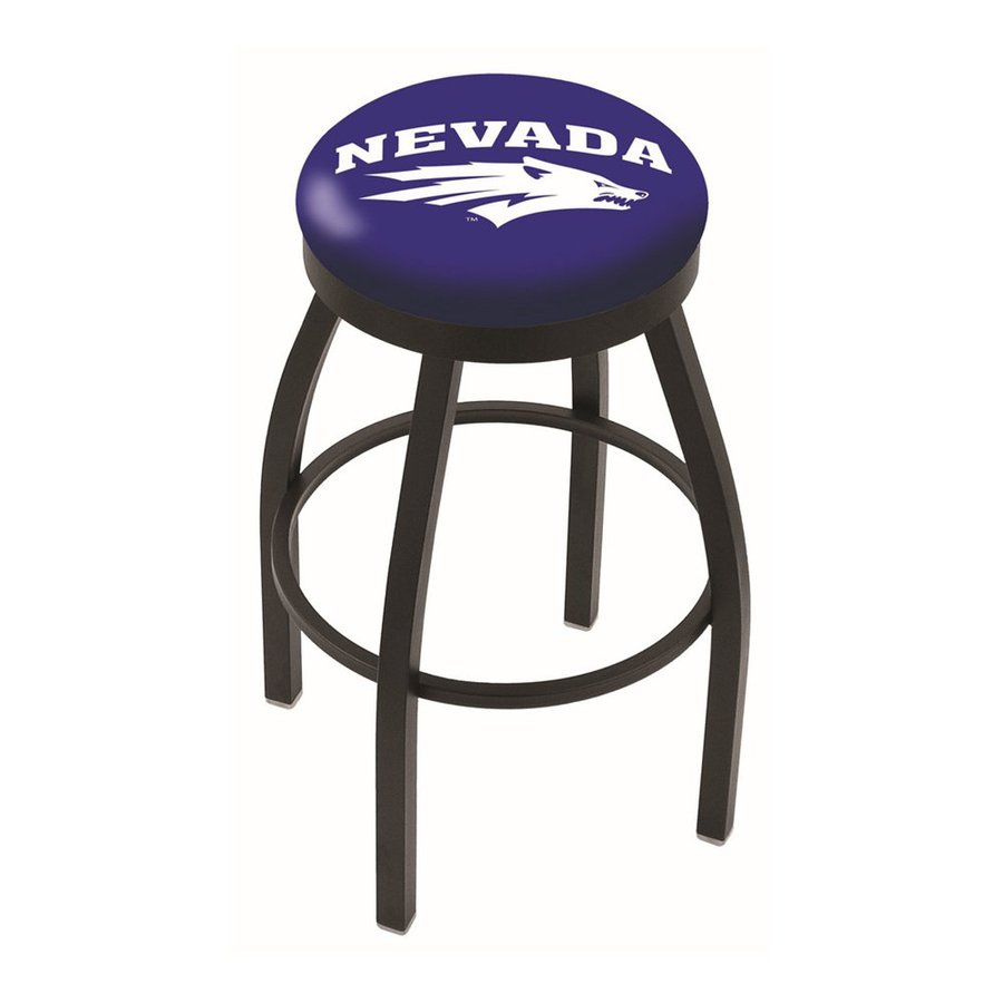 Holland University Of Nevada Wolfpack Black Wrinkle 25-in Counter Stool