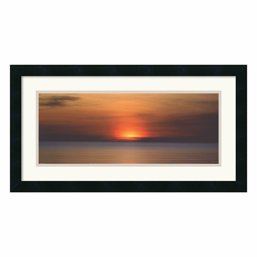 Amanti Art 26-in W x 14-in H Framed Wood Landscapes Prints Wall Art