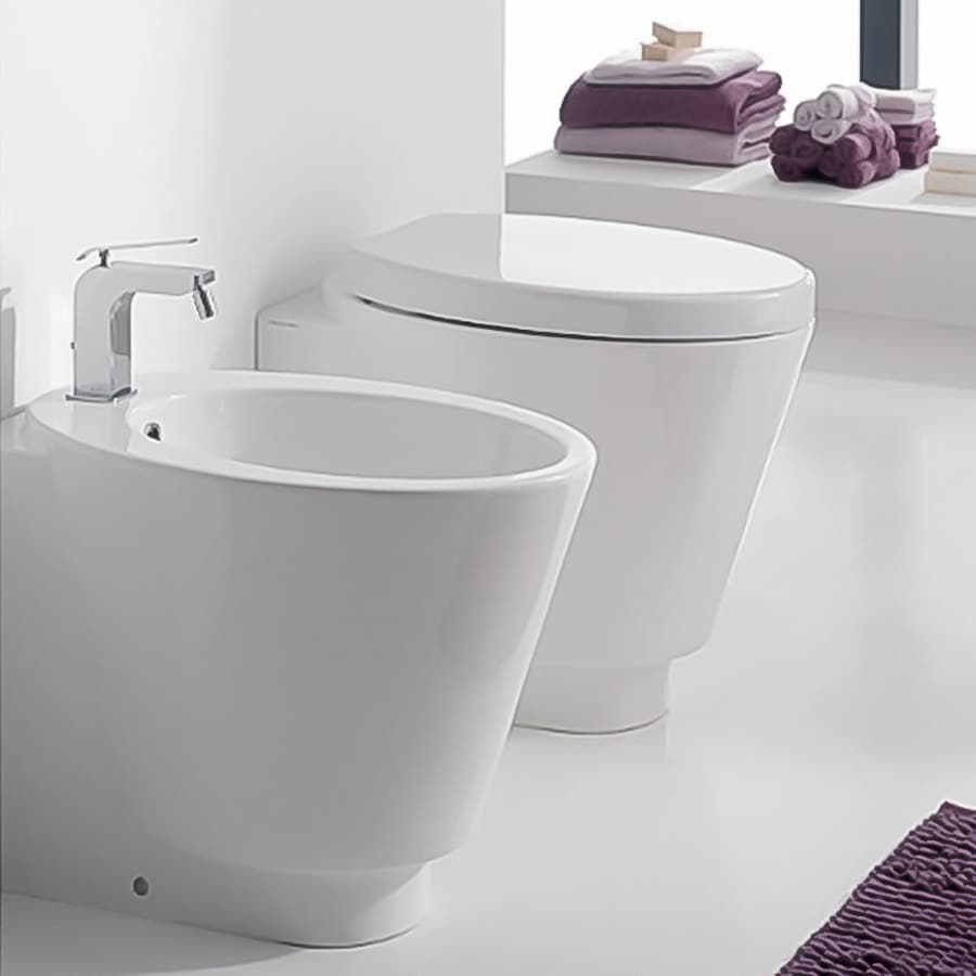 Nameeks Scarabeo Standard Height White 4.5-in Rough-in Elongated Toilet Bowl