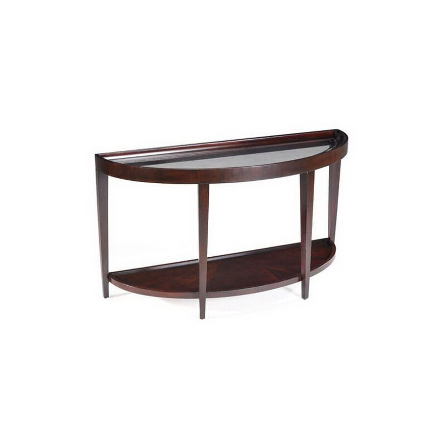 Magnussen Home Carson Sienna Cherry Half-Round Console and Sofa Table