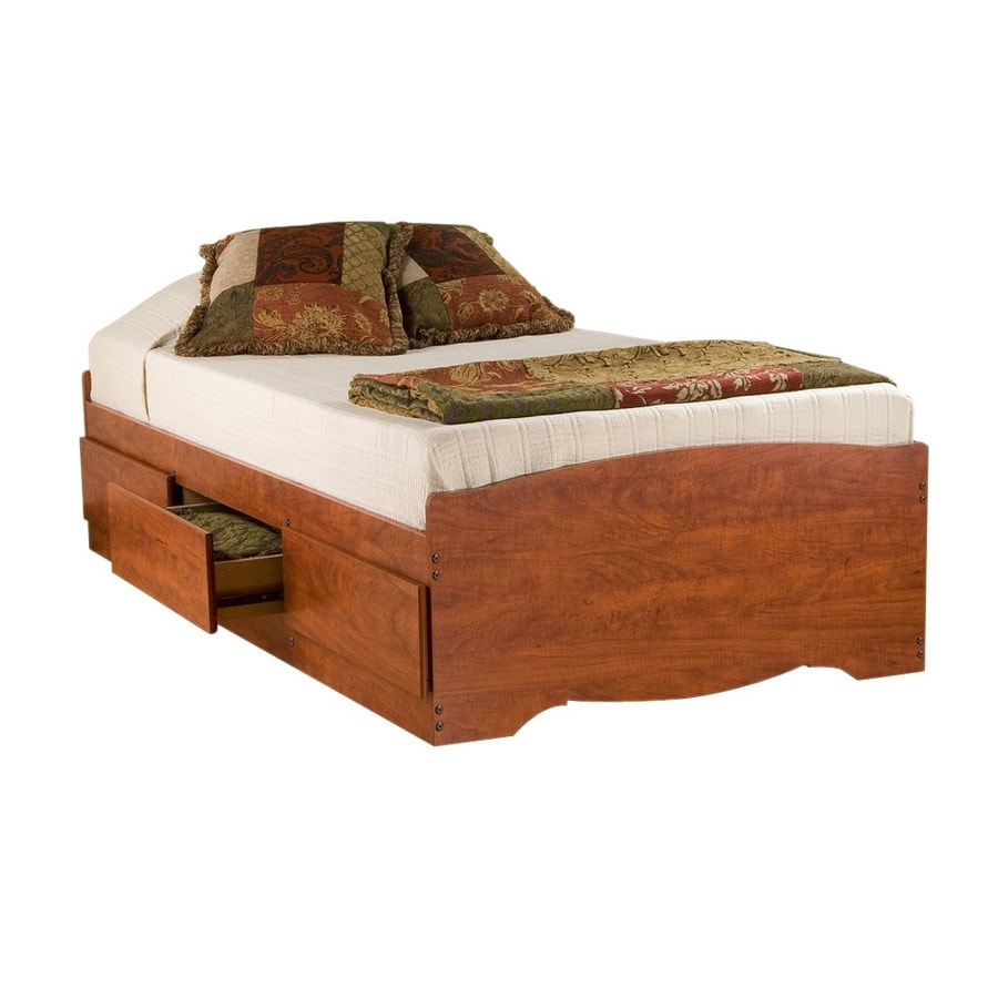 Shop Prepac Furniture Cherry Twin Platform Bed With