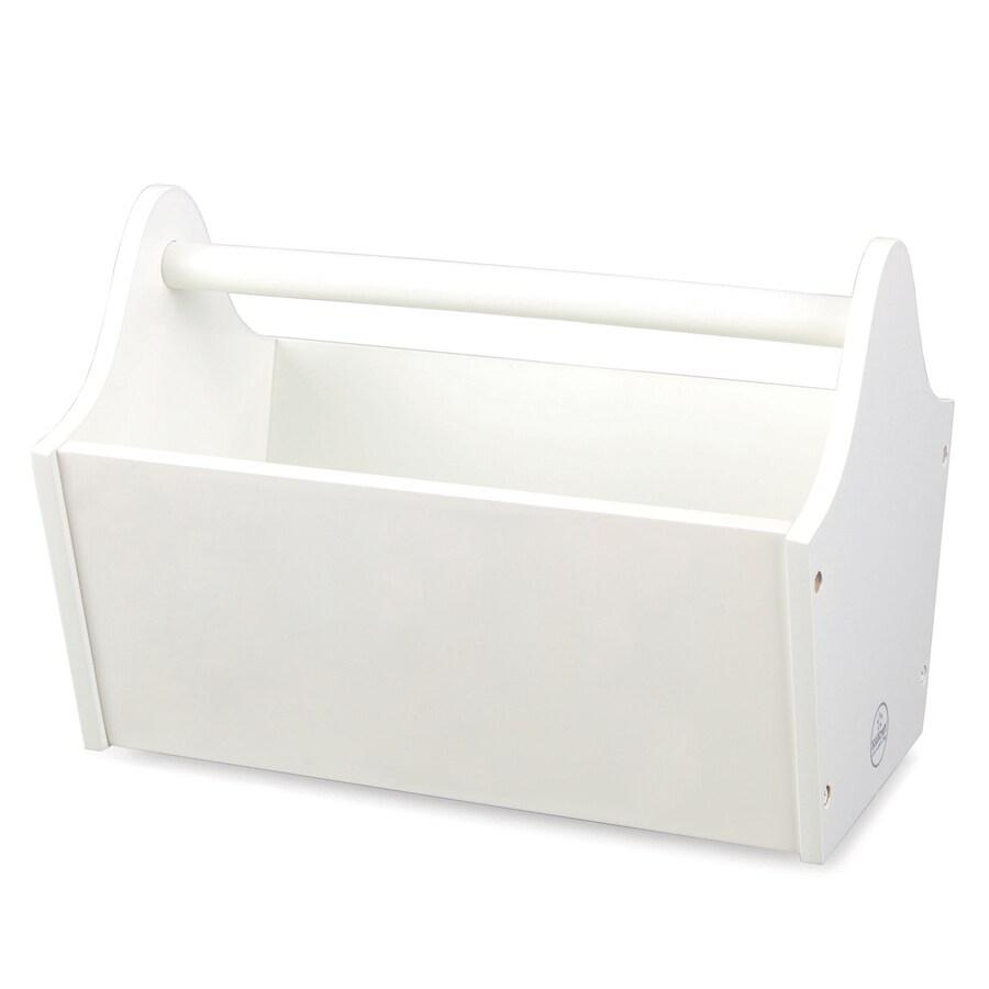KidKraft 13-in W x 9-in H x 9-in D White Toy Caddy