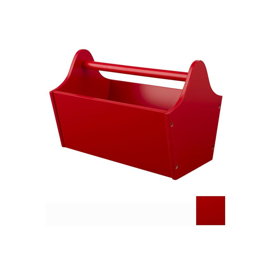 KidKraft 13-in W x 9-in H x 9-in D Red Toy Caddy