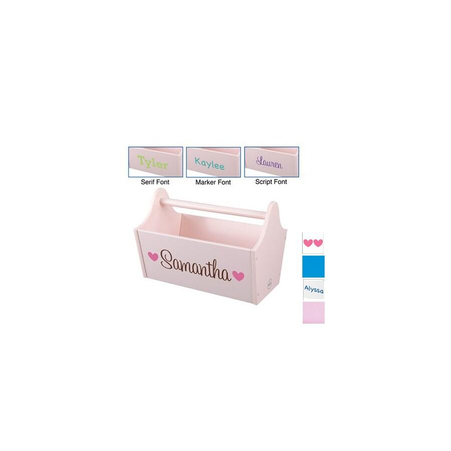 KidKraft 13-in W x 9-in H Pink Composite Wood Basket